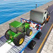 Tractor Cargo Ship Transport