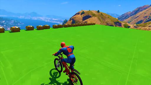 Superhero BMX Stunts Racing: Buggy Hill Heroes  screenshots 2