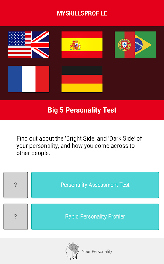 big five personality test scoring manual