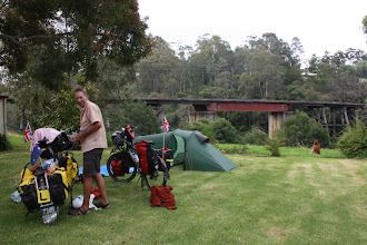 Photo: Year 2 Day 159 - Our Pitch at Nawa Nawa Caravan Site, Overlooking Boggy Creek