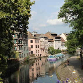 Le Petite France - Strasbourg by Ashley Rolland - City,  Street & Park  Historic Districts ( city view, colorful, german, le petite france, france, french, street view, river walk, historic, river, strasbourg,  )