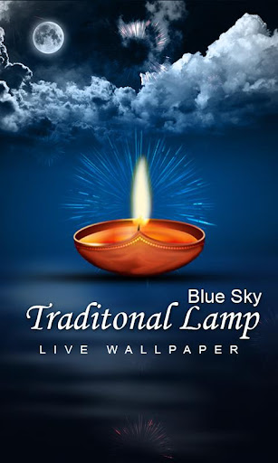 Lamp Live Wallpaper Bluesky 3D
