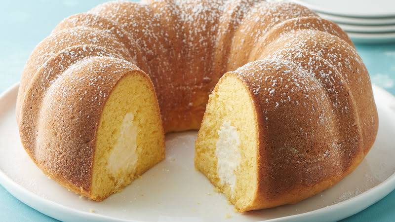 Coconut Cream Filled Bundt Cake