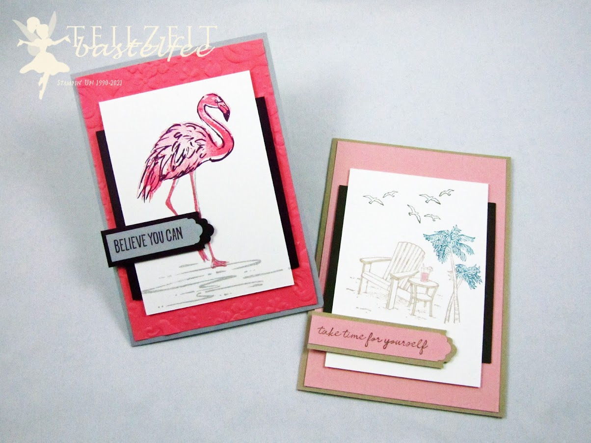 Stampin' UP! - Inkspire_me, Sketch Challenge, Flamingo, Seaside View, Do the Impossible, Relax