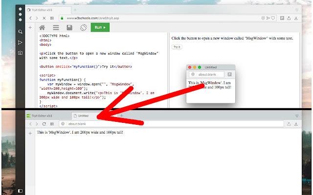 Single Window (open links in active window)