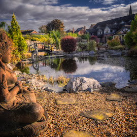 The East Garden by Krasimir Lazarov - City,  Street & Park  City Parks ( wrexham, wales, tourism, architecture, garden, united kingdom )