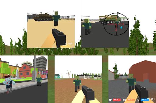 Pixel Zombies Frontline Gun