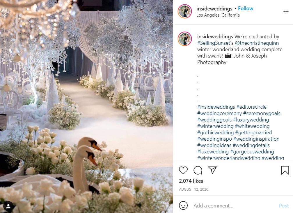 wedding in the winter wedding season