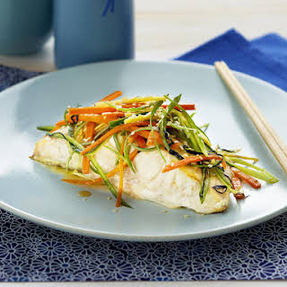 Pan-Fried Fish with Japanese Salad.