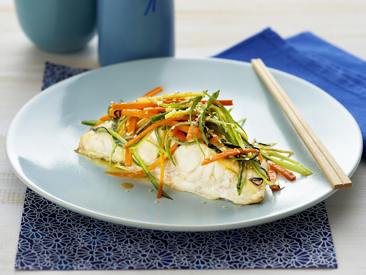 Pan-Fried Fish with Japanese Salad Recipe