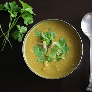 Curried Chestnut and Lentil Soup.