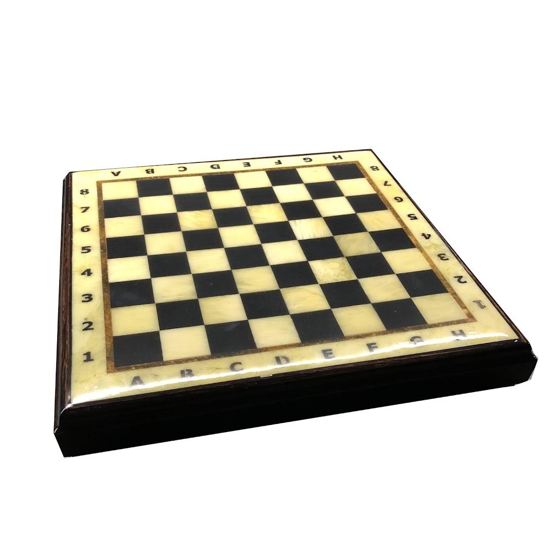 Шахматная коробка с доской малая дуб 2727 yantar21 купить