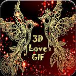 3D Love GIF Icon