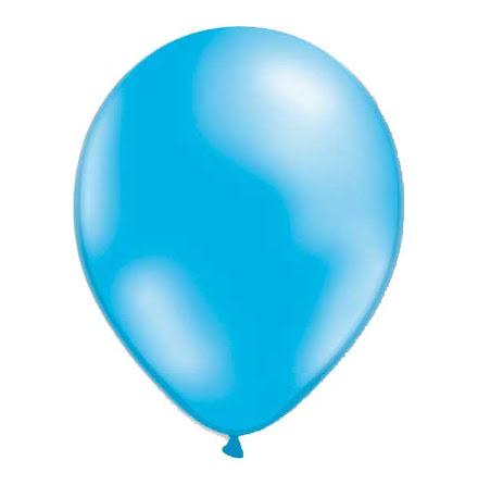 Ballonger - Ljusblå metallic