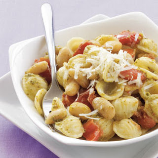 Orecchiette with White Beans and Pesto.
