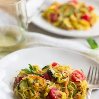 Spaghetti Squash Primavera.