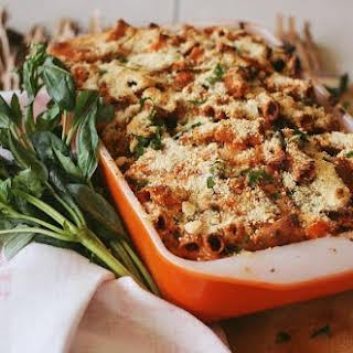 Pumpkin, Ricotta & Spinach Pasta Bake // Vegan + GF + Oil Free.
