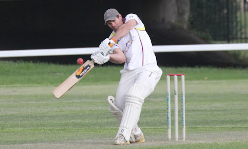 Lachlan Cameron, pictured here playing for Civeo last season, smashed 64 runs from 23 deliveries in a Northern Inland Bolters win on Sunday.