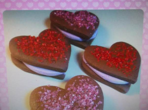 Chocolate Heart Cookies For Your Sweetheart