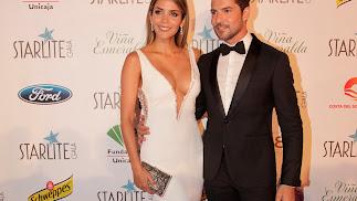 Rosanna Zanetti y David Bisbal, el sábado en Marbella en la gala solidaria Starlite.