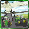 Tractor Transport Airplane 3D icon