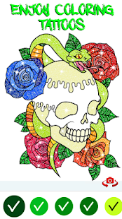 Tattoo Adult Color By Number Tattoo coloring