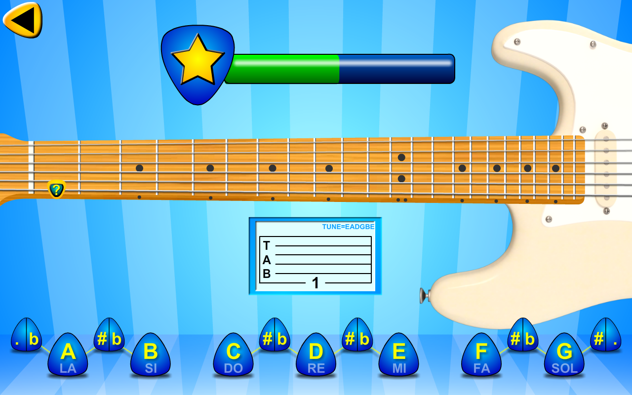 learn music notes on your guitar fretboard android apps on google play. Black Bedroom Furniture Sets. Home Design Ideas