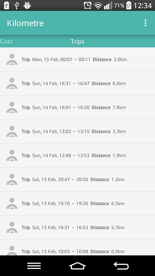 Kilometre - στιγμιότυπο οθόνης