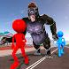 Angry Gorilla vs Stickman City Battle