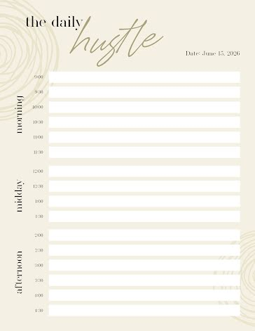 The Daily Hustle - Planner Template