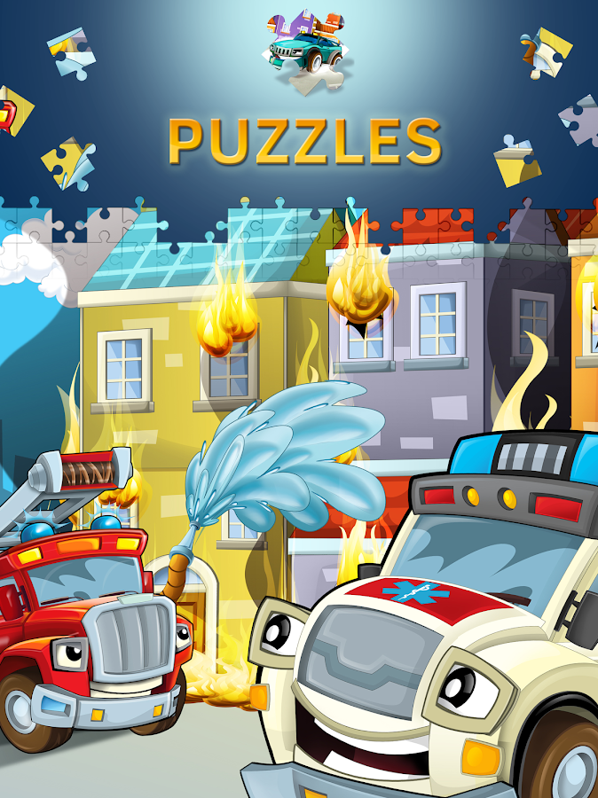 cartoon cars puzzle for kids screenshot