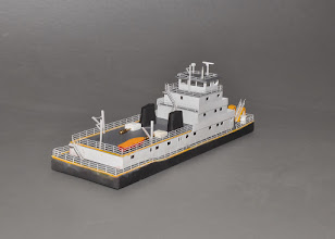 Photo: 145' Z Scale Towboat STBD Stern View