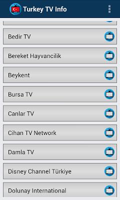 TV Turkey Online Info Channels - screenshot