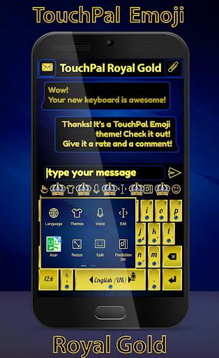 無料个人化AppのTouchPal Emoji Royal Gold|記事Game