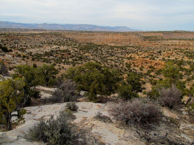 View north from camp over Rock Canyon toward Emery