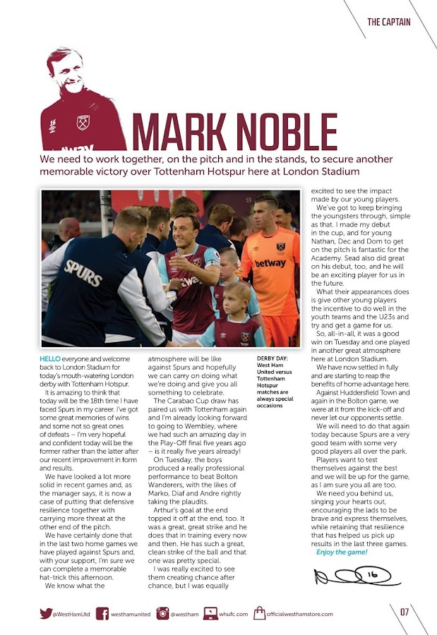 West Ham United FC Programme- screenshot