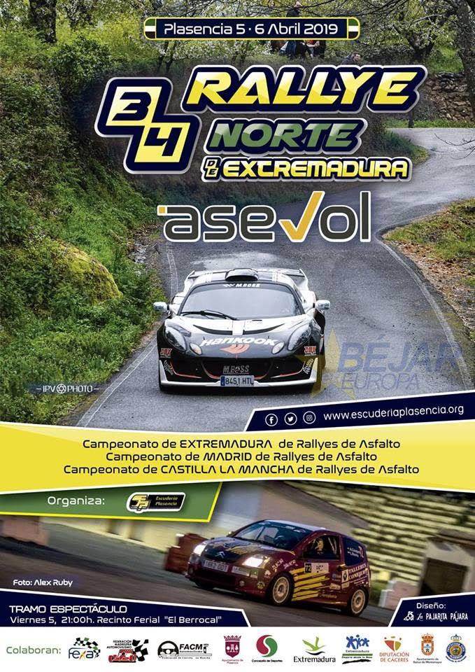 El Rallye Norte de Extremadura vuelve este año a carreteras salmantinas