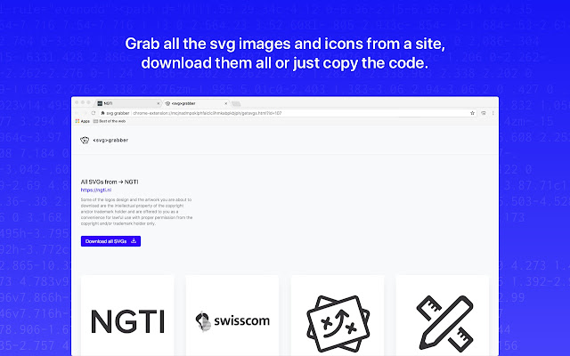 svg-grabber - get all the svg's from a site