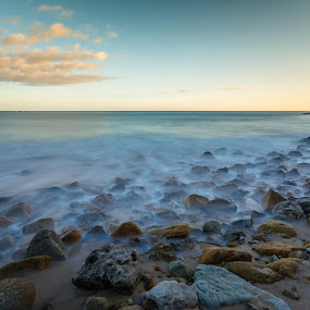 Burgau07-11-13ND 10 Stops by Lucio Dias - Landscapes Beaches ( relax, tranquil, relaxing, tranquility )