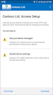 Portál firmy Microsoft Intune - náhled