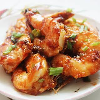 Har Lok (Cantonese Style Stir-Fried Prawns in Sauce).