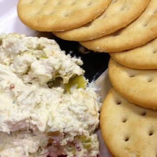 Three Cheese Pepperoncini Spread.