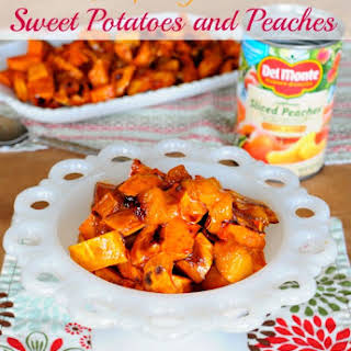 Maple Glazed Sweet Potatoes and Peaches.