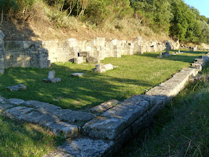 Photo: Apollonia - Stoa with 17 niches, probably stores, mid 4th century BC