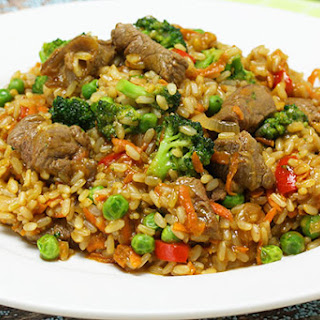 Satay Fried Rice with Beef