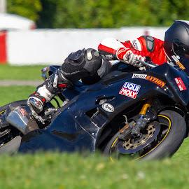 Moto Nation #1 by Yves Sansoucy - Sports & Fitness Motorsports ( motor, bick, grass, helmet, motor bike, track, moto, speed, tire )
