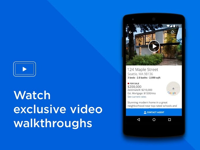 Screenshot 1 for Zillow's Android app'