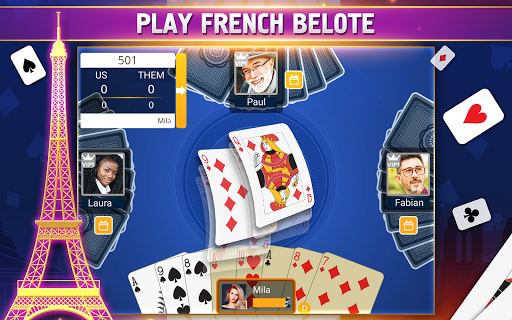 VIP Belote - French Belote Online Multiplayer android2mod screenshots 15