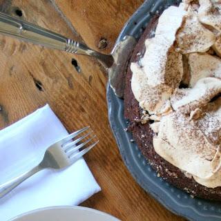 DOUBLE CHOCOLATE MERINGUE CAKE.