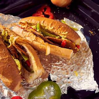 Vegan Philly Cheesesteak Sandwiches with Homemade Seitan.